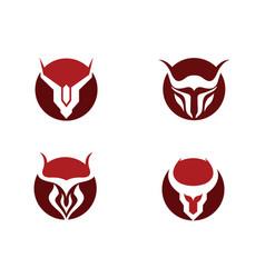 Red bull taurus logo template icon vector