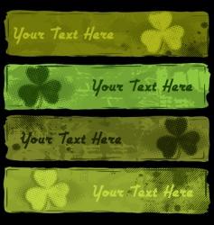 Saint Patrick's Banners vector image