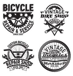 set of vintge emblem design vector image vector image