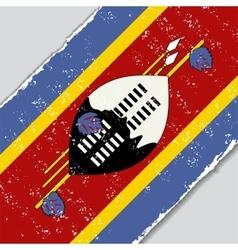 Swaziland grunge flag vector
