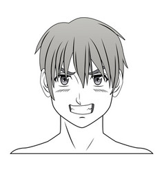Young guy anime boy character manga vector