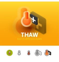 Thaw icon in different style vector