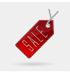 Red sale tag isolated vector