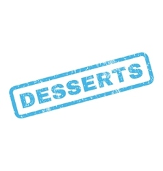 Desserts rubber stamp vector