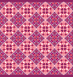 Square pattern with red decorative valentine vector