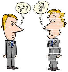 frustrated businessman cartoon vector image