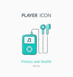 Music player icon isolated on white vector