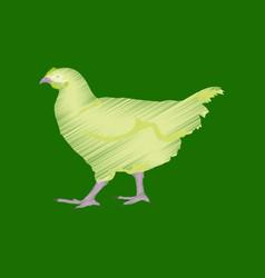flat shading style icon hen vector image