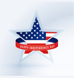 Star with american flag 4th of july design vector
