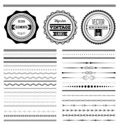 Big set of dividers for web design vector image