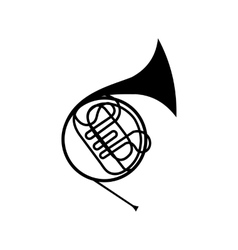 French horn icon vector
