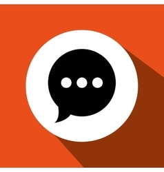 Speech bubble icon design vector