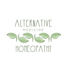 Alternative medicine homeopathi logo symbol vector