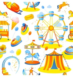 Amusement park seamless pattern vector
