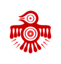 Aztec spirit bird vector