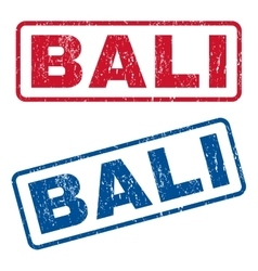 Bali rubber stamps vector