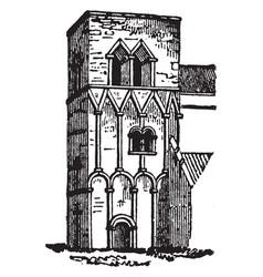 Barton-on-humber church short work vintage vector