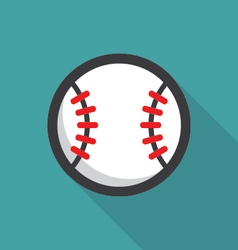 Baseball ball retro poster vector image