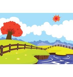 beautiful landscape vector image