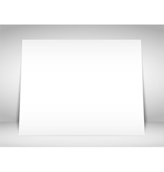 Blank White Placard vector image