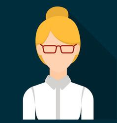 Business woman icon flat single avatarpeaople vector