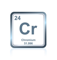 chemical element chromium from the periodic table vector image