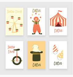 circus set of characters vector image