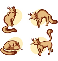 Cute home cat vector