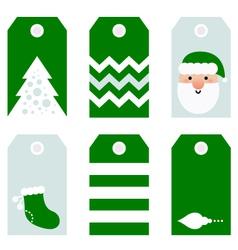 Cute modern Christmas holiday gift tags printables vector image vector image