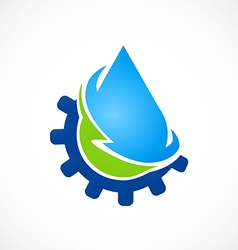 Eco water recycle abstract logo vector