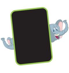 elephant cartoon frame vector image vector image - Elephant Picture Frame