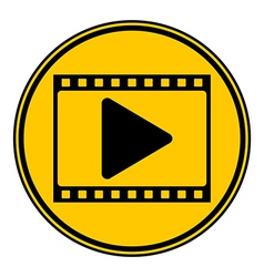 Film strip button vector image