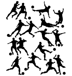 Footballers vector image vector image