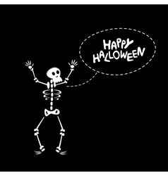 Funny Skeleton vector image vector image