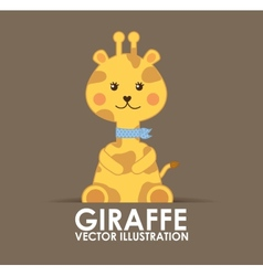 Giraffe cute vector