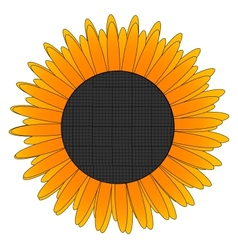 glass eco nature yellow flower sign vector image vector image
