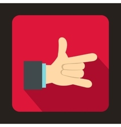 I love you hand sign icon flat style vector