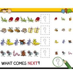 Pattern task for preschool kids vector