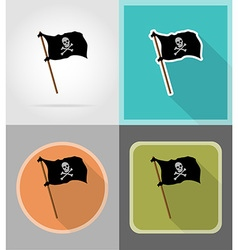Pirate flat icons 10 vector