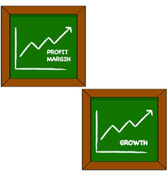 Profit and growth vector image vector image