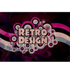 retro grunge background vector image