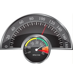 Retro speedometer vector