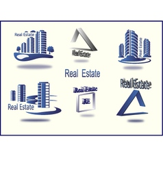 Set of icons real estate vector