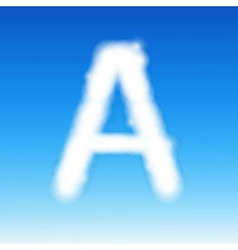 Sky letter a vector