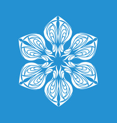 Snowflake ornament icon simple style vector