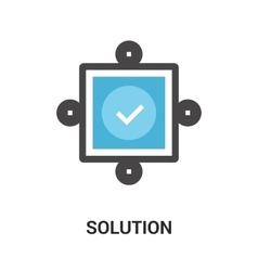 solution icon concept vector image vector image