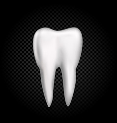 Tooth on dark transparent background vector