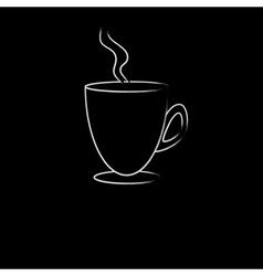 White cup of hot drink vector image