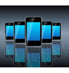 Abstract design phone for different business vector image