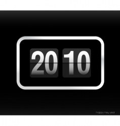 flip clock with 2010 year vector image